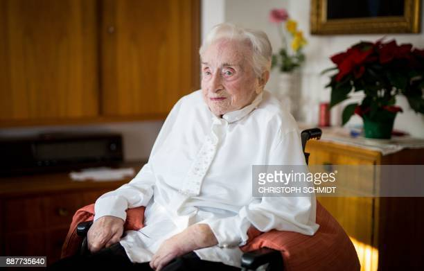 Born in Thuringia eastern Germany Edelgard Huber von Gersdorff celebrates her 112th birthday on December 7 2017 in her apartment in Karlsruhe...