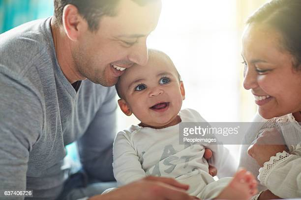 born into a home full of love - young family stock pictures, royalty-free photos & images