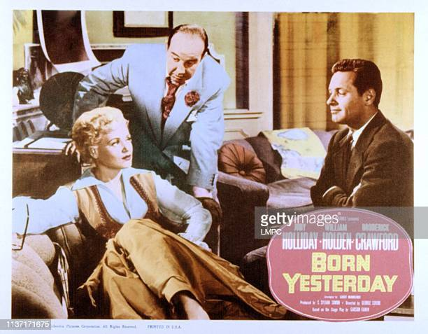 Born Yesterday lobbycard Judy Holliday Broderick Crawford William Holden 1950