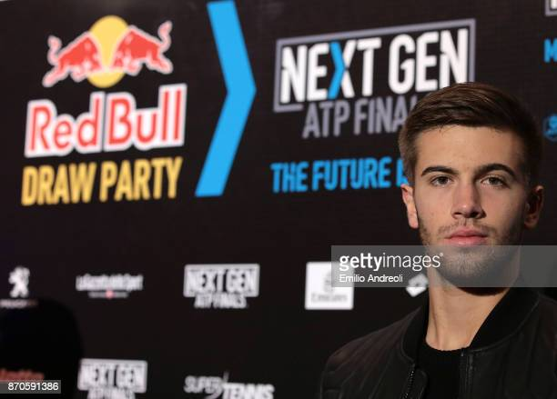 Borna Coric of Croatia attends the NextGen ATP Finals Launch Party on November 5 2017 in Milan Italy