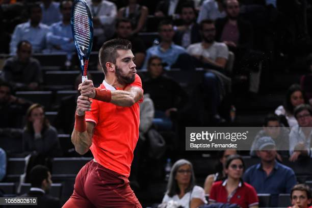 Borna Coric of Croatia during Day 3 of the Rolex Paris Masters on October 31 2018 in Paris France