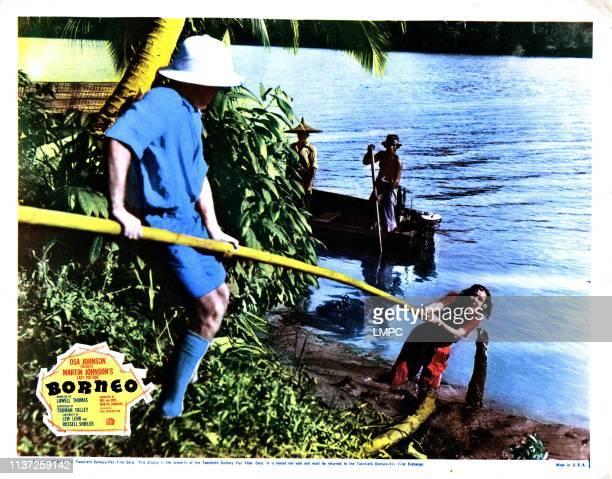 Borneo lobbycard from left Martin Johnson Osa Johnson 1937