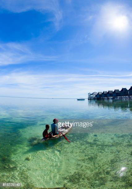 borneo sea gypsy. - kota kinabalu stock pictures, royalty-free photos & images