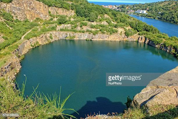 Bornholm Island Denmark 13th August 2015 Hammersoe and Opalsoe lakes at the Northern Bornholm Hammerso is the largest lake on the island of Bornholm...