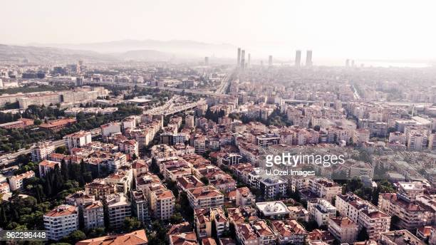 bornova district aerial view, izmir, turkey - izmir stock pictures, royalty-free photos & images