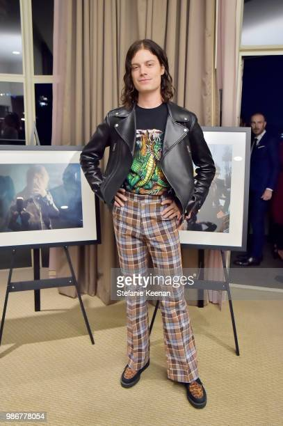 Borns attends Diesel Presents Scott Lipps Photography Exhibition 'Rocks Not Dead' at Sunset Tower on June 28 2018 in Los Angeles California