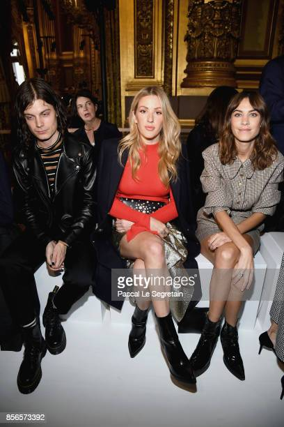 Borns Ellie Goulding and Alexa Chung attend the Stella McCartney show as part of the Paris Fashion Week Womenswear Spring/Summer 2018 on October 2...