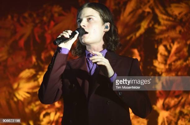 Borns performs in support of his 'Blue Madonna' release at the Fox Theater on January 17 2018 in Oakland California