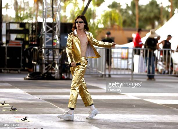 Borns performs onstage during the 2018 Coachella Valley Music And Arts Festival at the Empire Polo Field on April 21 2018 in Indio California