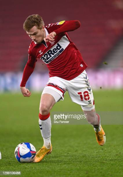 Boro player Duncan Watmore in action during the Sky Bet Championship match between Middlesbrough and Rotherham United at Riverside Stadium on January...