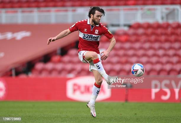 Boro player Jonny Howson in action during the Sky Bet Championship match between Middlesbrough and Birmingham City at Riverside Stadium on January...
