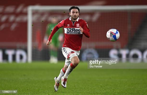Boro player Patrick Roberts in action during the Sky Bet Championship match between Middlesbrough and Rotherham United at Riverside Stadium on...