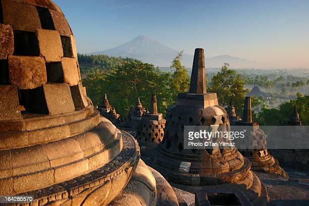 borobudur after sunrise - yogyakarta stock pictures, royalty-free photos & images