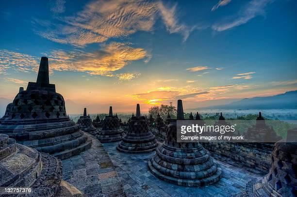 Borobudur during sunrise