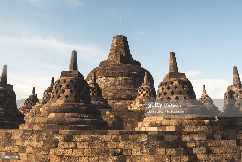 Borobudur stupas : Stock Photo