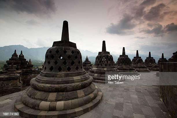 borobudur temple, a world heritage site in central java. - alex saberi fotografías e imágenes de stock