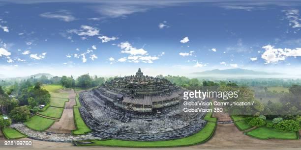 borobudur temple, central java, indonesia - 全天周パノラマ ストックフォトと画像