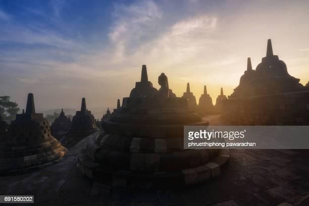 Borobudur Temple Morning Sunrise.