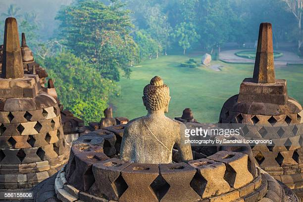 borobudur temple - indonesia stock pictures, royalty-free photos & images