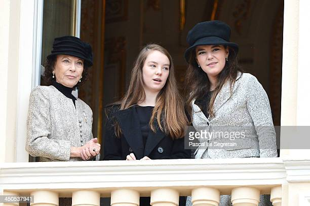 Boroness ElisabethAnne de Massy Alexandra of Hanover and Melanie de Massy attend the National Day Parade as part of Monaco National Day Celebrations...