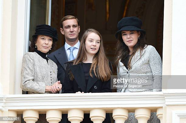 Boroness ElisabethAnne de Massy Pierre Casiraghi Alexandra of Hanover and Melanie de Massy attend the National Day Parade as part of Monaco National...