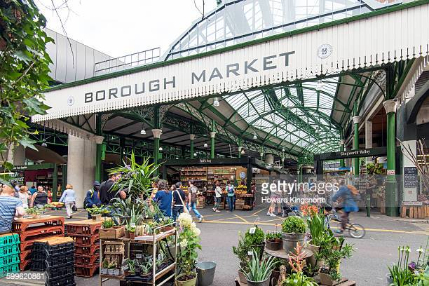 borough market entrance - borough market stock pictures, royalty-free photos & images