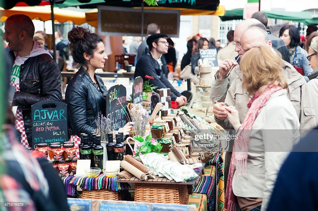 Borough Market in London : Stock Photo