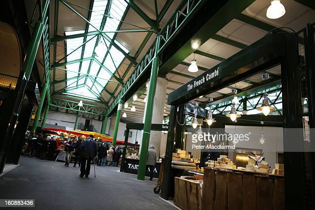 Borough Market on February 7 2013 in London England Borough Market London's oldest since 1756 has recently completed renovation and today had it's...