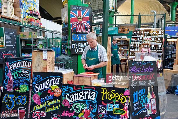 Borough market, serving Pimms