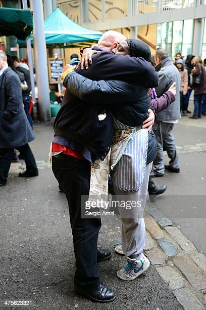 Borough market vendors hugging