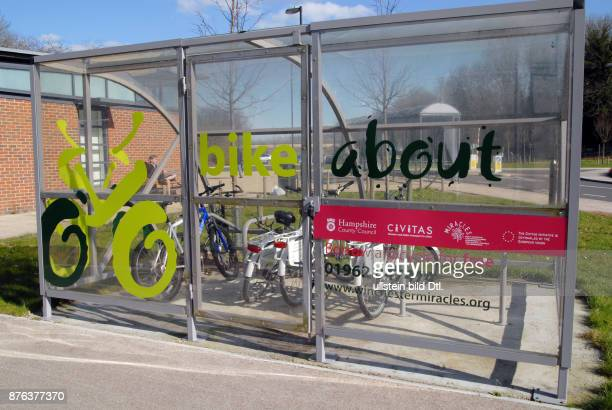 UK Borrow a bicycle scheme in the Park and Ride car park in Winchester Hampshire Photo © Julio Etchart CDREF00556