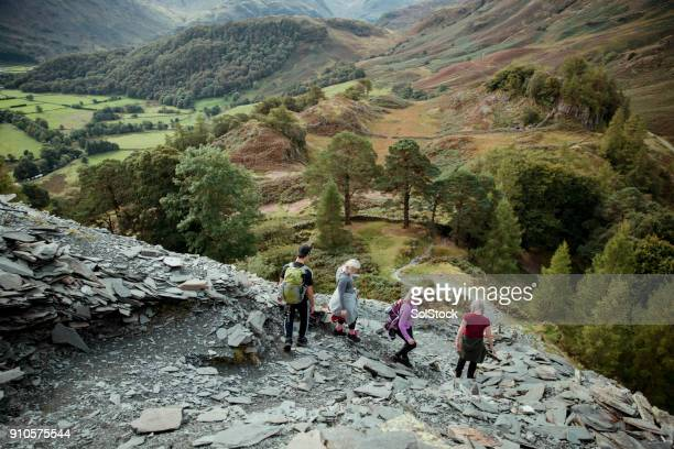 borrowdale from castle cragg - cumbria stock pictures, royalty-free photos & images