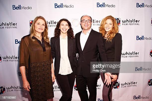 Borsos Jury Helen Shaver Liane Balaban Martin Katz Rachelle Lefevre attend the 12th Annual Whistler Film Festival Opening Gala Red Carpet on November...