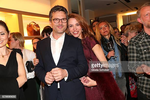 Bortolo Venturelli Managing Director Central Eastern Europe and his partner Francesca Giudice during the TOD'S 'The art of leather' party on April 28...