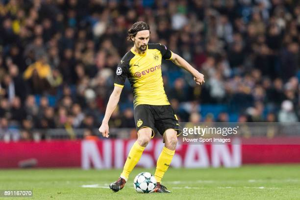 Borussia Dortmund Defender Neven Subotic in action during the Europe Champions League 201718 match between Real Madrid and Borussia Dortmund at...