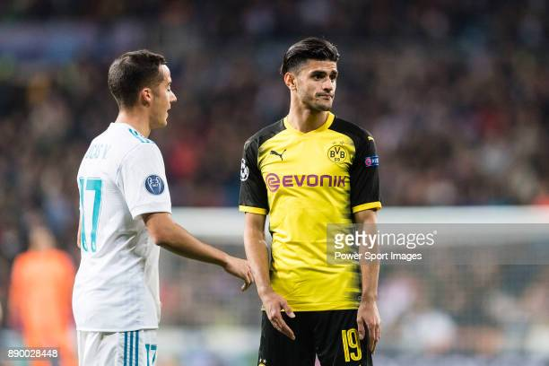 Borussia Dortmund Mahmoud Dahoud reacts during the Europe Champions League 201718 match between Real Madrid and Borussia Dortmund at Santiago...