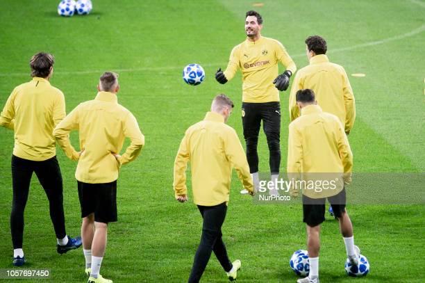 Borussia Dortmund Roman Burki during training session the day before UEFA Champions League match between Atletico de Madrid and Borussia Dortmund at...