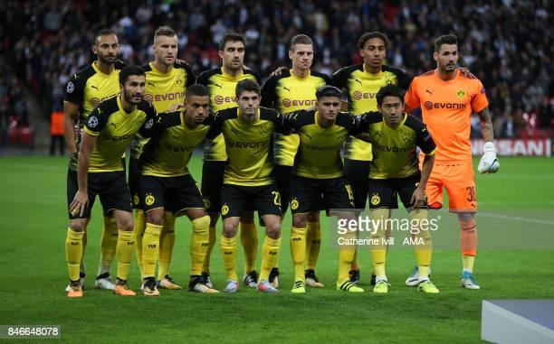 Borussia Dortmund team group photo during the UEFA Champions League group H match between Tottenham Hotspur and Borussia Dortmund at Wembley Stadium...