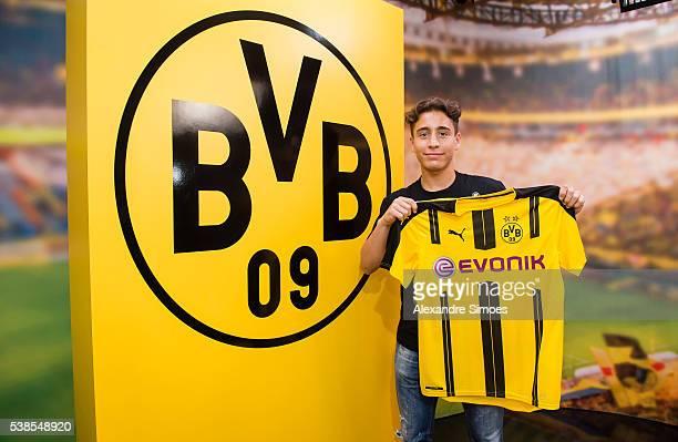 Borussia Dortmund unveils new signing Emre Mor on June 7 2016 in Dortmund Germany