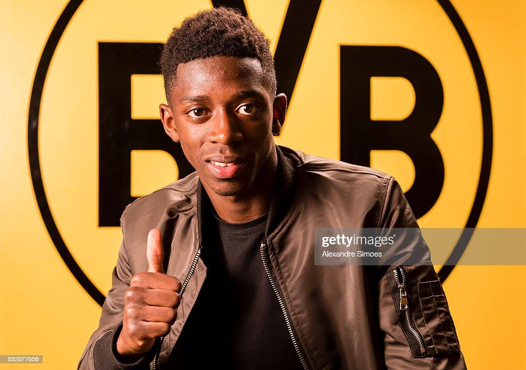 Borussia Dortmund Unveils New Signing Ousmane Dembele : News Photo