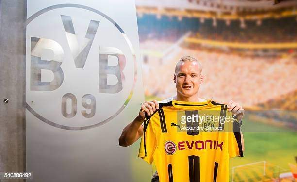Borussia Dortmund unveils new signing Sebastian Rode on June 6 2016 in Dortmund Germany