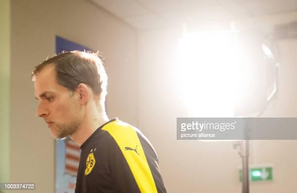 FILE Borussia Dortmund's coach Thomas Tuchel arrives at a press conference at the Stade Louis IIin Monaco 18 April 2017 Photo Bernd Thissen/dpa