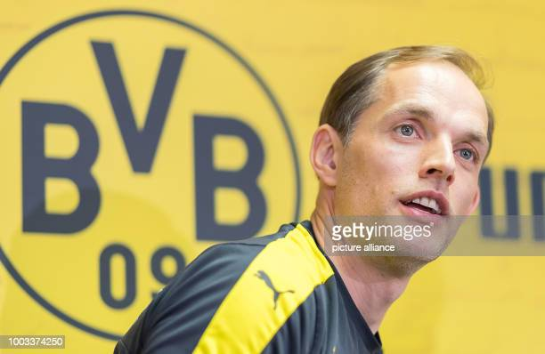 FILE Borussia Dortmund's coach Thomas Tuchel photographed during a press conference in Dortmund Germany 12 May 2017 Photo Guido Kirchner/dpa