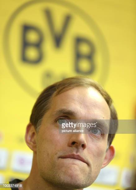 FILE Borussia Dortmund's coach Thomas Tuchel photographed during a press conference at the training grounds in Dortmund Germany 21 April 2017 Photo...