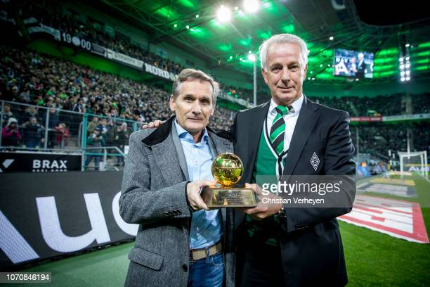 Borussia Legend Allan Simonsen spend his ballon d'or from 1977 to the Borussia Museum ahead the Bundesliga match between Borussia Moenchengladbach...