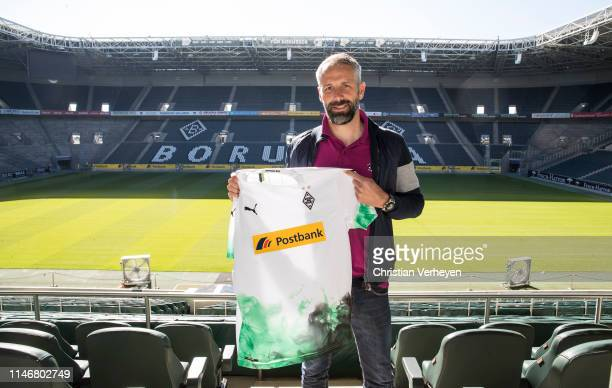 Borussia Moenchengladbach present their new Headcoach Marco Rose at Borussia-Park on May 29, 2019 in Moenchengladbach, Germany.