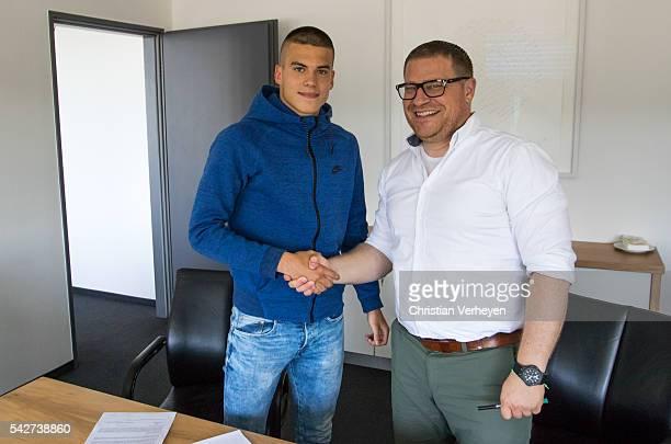 Borussia Moenchengladbach Unveils New Signing Laszlo Benes on June 24 2016 in Moenchengladbach Germany