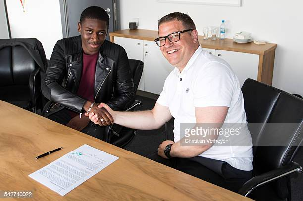 Borussia Moenchengladbach Unveils New Signing Mamadou Doucoure on June 24 2016 in Moenchengladbach Germany