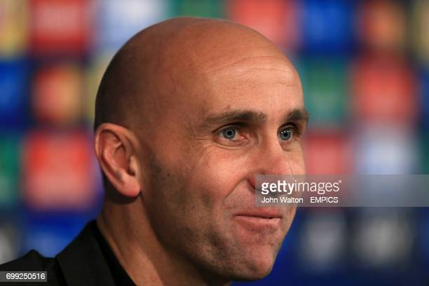 Borussia Monchengladbach manager Andre Schubert during the post match press conference