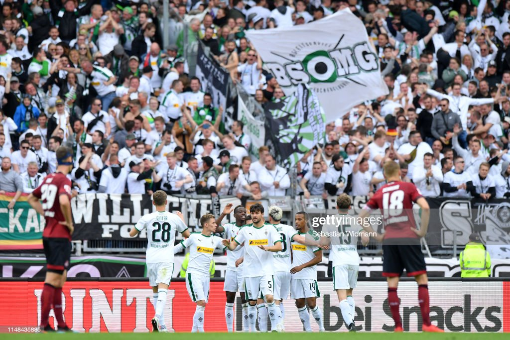 1. FC Nuernberg v Borussia Moenchengladbach - Bundesliga : Nachrichtenfoto